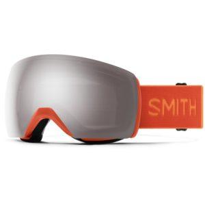 smith ski goggles over glasses