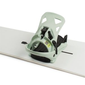 burton snowboard step on bindings close up boot mounting system