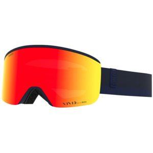yellow mirrored goggle lens on giro axis ski goggles