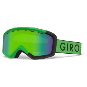giro brand kids ski goggles in green and black