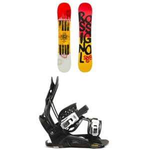 kids snowboard package rossignol board and flow bindings