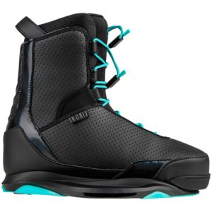 womens wakeboard bindings from ronix in blue and black